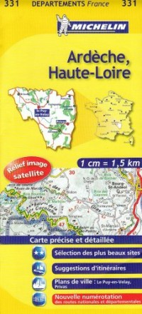 Ardèche, Haute-Loire : 1/150 000