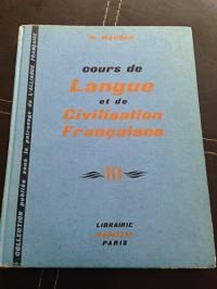 Cours de langue et de civilisation françaises, tome 3