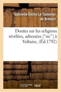 Doutes Sur les Religions Revelees  ed 1792