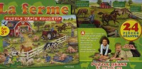 La ferme : Puzzle, tapis éducatif