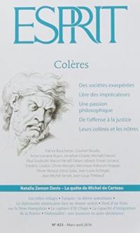 Revue Esprit Mars-Avril 2016 Coleres