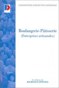 Boulangerie patisserie (entreprises artisanales) 2003