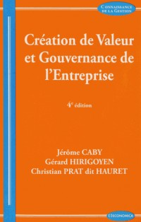Creation de Valeur, 4e ed. (la)