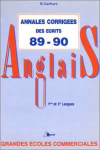 Annales anglais hec 89/90