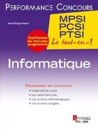 Informatique 1re année MPSI, PCSI, PTSI