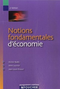 Notions fondamentales d'économie