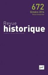 Revue historique, N° 672, Octobre 2014 :