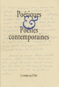 Poétiques et poésies contemporaines