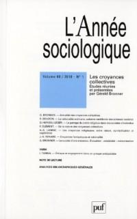 Année Sociologique 2010 - Vol. 60 - N° 1