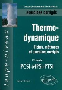Thermodynamique PCSI-MPSI-PTSI Exercices corrigés