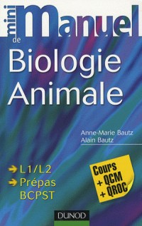 Mini manuel de biologie animale : Cours + QCM