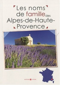 Les noms de famille des Alpes-de-Haute-Provence
