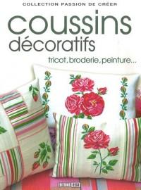 Coussins décoratifs : Tricot, broderie, peinture...