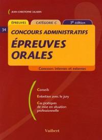 Epreuves orales : Concours administratifs catégorie C