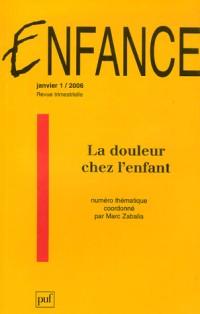 Enfance, N° 1/2006 : La douleur chez l'enfant