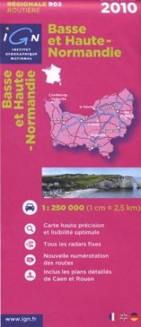 R02 Basse et Haute-Normandie 2010 1/250.000