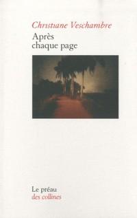 Après chaque page
