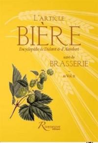 L'article Bière suivi de Brasserie