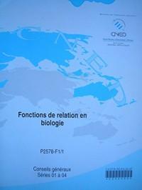 C.A.P. petite enfance - fonctions de relation en biologie