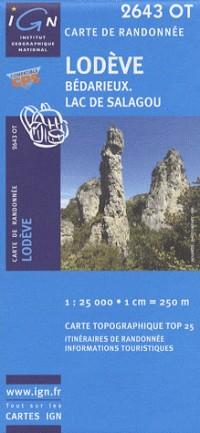 Lodeve / Bedarieux / Lac De Salagou GPS: Ign2643ot