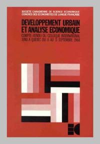 Société canadienne de sciences économiques, développement urbain et analyse économique, Congrès des économiqtes de langue française