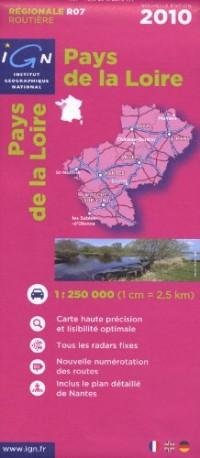 R07 Pays de la Loire 2010 1/250.000