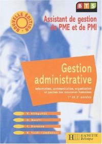 Gestion administrative BTS assistant PME PMI, livre de l'élève