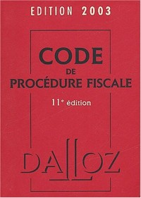 Code de la procédure fiscale 2003