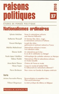 Raisons politiques n°37 Nationalisme ordinaire