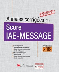 Annales corrigées du Score IAE-Message 2018