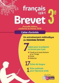 Cahier Français Brevet 3e 2018
