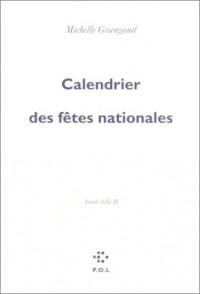 Calendrier des fêtes nationales