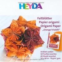 HEYDA Feuilles pliantes Origami, (L)100 x (H)100 mm,orange/