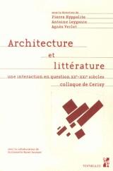 Architecture et littérature : Une interaction en question (XXe-XXIe siècles)
