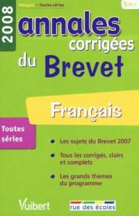 Français : Annales corrigées du Brevet