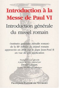 Introduction à la messe de Paul VI : Introduction générale du missel romain