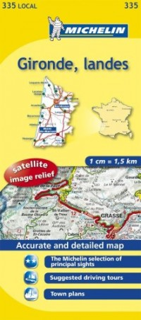 Michelin Map France: Gironde, Landes 335