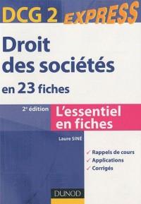 Droit des sociétés DCG 2, en 23 fiches