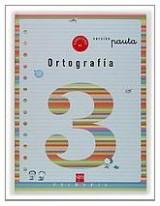 Cuaderno 3 de ortografía, Pauta. 1 Primaria