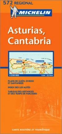 Carte routière : Asturias, Cantabria, N° 11572 (en espagnol)