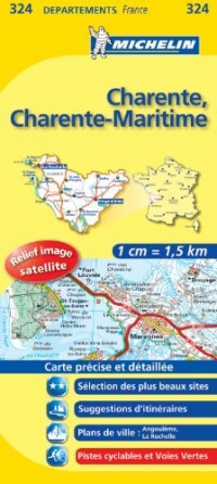 Charente, Charente-Maritime : 1/150 000