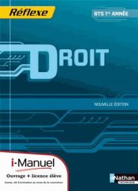 Droit  Bts 1  (Pochette Reflexe)  Licence Numerique Eleve  I-Manuel+Ouvrage Papier