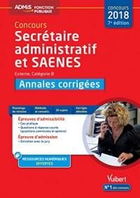 Concours Sa et Saenes Annales Corrigées Cat B Admis 7e Edt