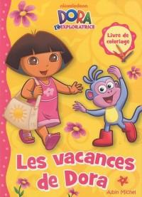 Dora l'exploratrice : Les vacances de Dora : Livre de coloriage