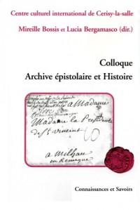 Colloque : Archive épistolaire et Histoire
