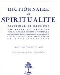 Dictionnaire de spiritualité ascétique et mystique (livre non massicoté)