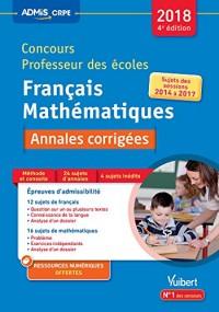 Concours Professeur des Ecoles Annales 2017 Corrigées Franc Maths 4e Edt