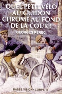 Quel petit vélo au guidon chromé au fond de la cour ?
