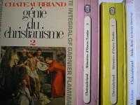 chateaubriand - lot 4 livres : genie du christianisme tome 2 - memoires d'outre tombe tome 3 - memoires d'outre tombe tome 1 - atala / rené / le dernier abencerage