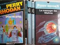 perry rhodan - lot 5 livres : le messager des maitres - les soeurs stellaires - l'agonie d'atlantis - la quete cosmique - opération astrée